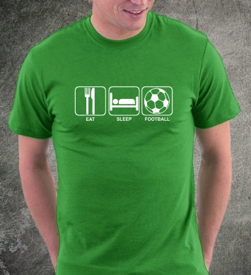 Ешь спи играй в футбол