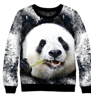 Свитшот Панда и бамбук