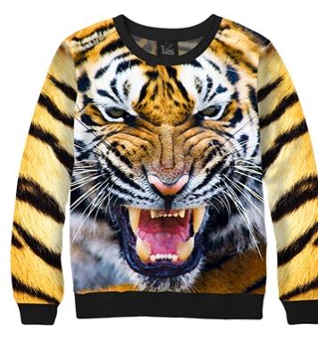 Свитшот Разъяренный тигр