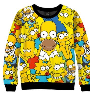 Свитшот Симпсоны персонажи