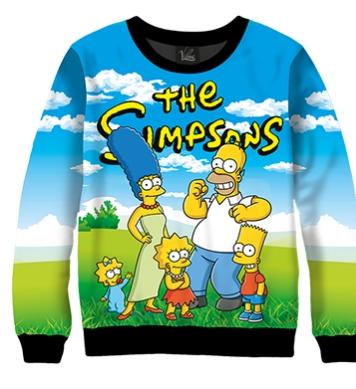 Свитшот Симпсоны отдыхают