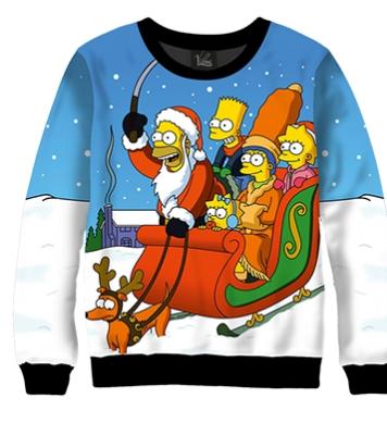 Свитшот Симпсоны зима