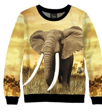 Свитшот Африканский слон