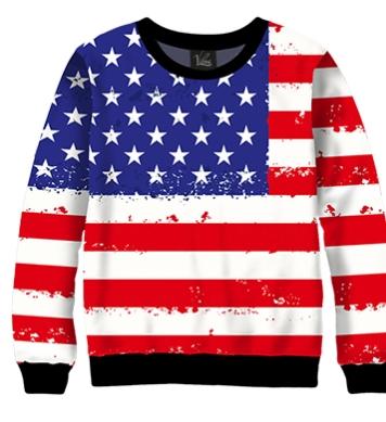 Свитшот США флаг