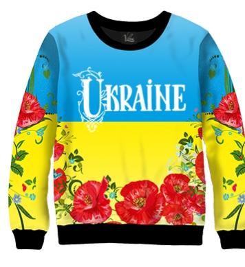 Свитшот Ukraine мальвы