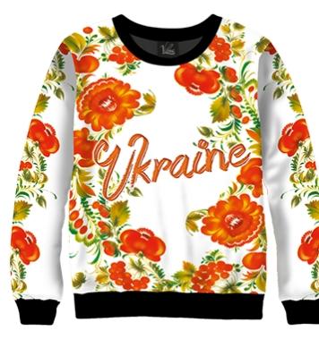 Свитшот Ukraine квіти