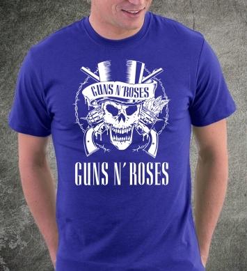 Guns and roses череп