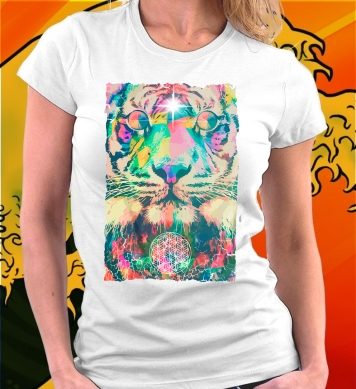Colored tiger