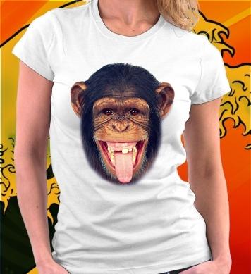 Шимпанзе с языком