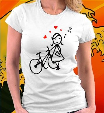Влюбленная велосипедистка