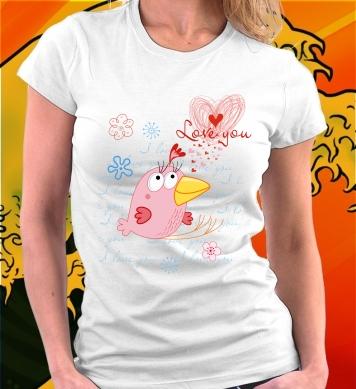 Birds in love woman