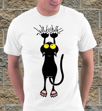 Черный царапающийся кот