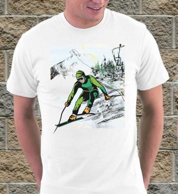 Лыжник цветной