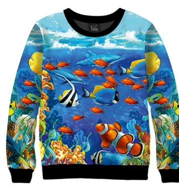 Свитшот Подводный мир океана