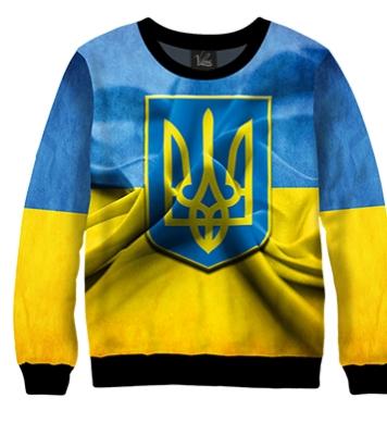 Свитшот Украинский флаг