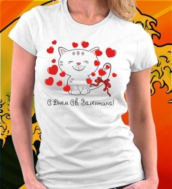 Котик День Святого Валентина